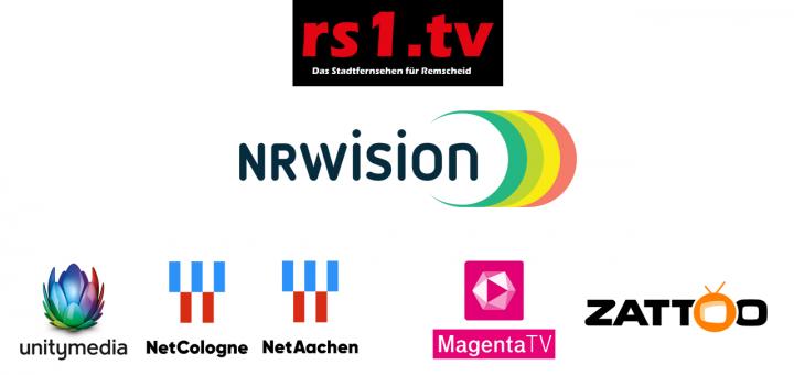 rs1.tv - das Stadtfernsehen für Remscheid ist über NRWision landesweit im digitalen Kabelfernsehen und bundesweit über IPTV empfangbar.